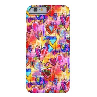 Capa Barely There Para iPhone 6 Corações pintados do primavera