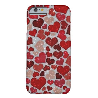 Capa Barely There Para iPhone 6 Corações Sparkling,