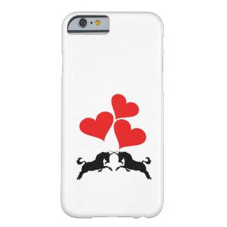 Capa Barely There Para iPhone 6 Corações & unicórnios