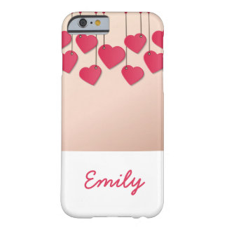 Capa Barely There Para iPhone 6 Corda de suspensão dos corações
