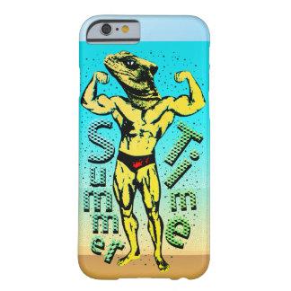 Capa Barely There Para iPhone 6 Corpo do verão com fundo da praia