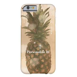 Capa Barely There Para iPhone 6 Costume tropical elegante do abacaxi dourado Glam