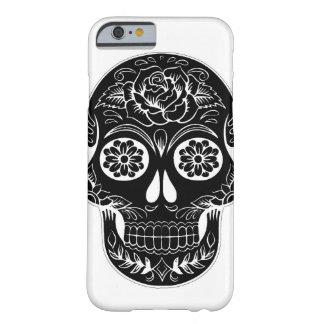 Capa Barely There Para iPhone 6 Crânio preto e branco do açúcar