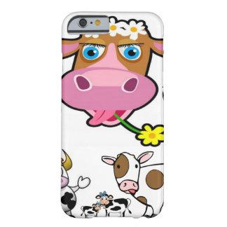 Capa Barely There Para iPhone 6 Crianças de riso de Iphone da vaca brancas