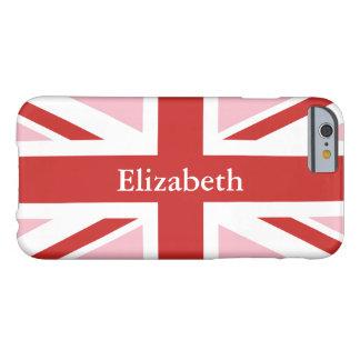 Capa Barely There Para iPhone 6 Criar seu próprio Union Jack vermelho