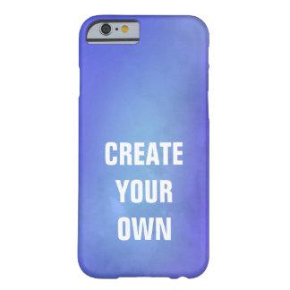 Capa Barely There Para iPhone 6 Criar sua própria pintura azul da aguarela