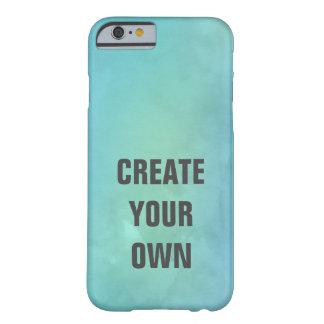 Capa Barely There Para iPhone 6 Criar sua própria pintura da aguarela de turquesa
