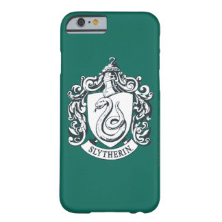 Capa Barely There Para iPhone 6 Crista de Harry Potter | Slytherin - preto e
