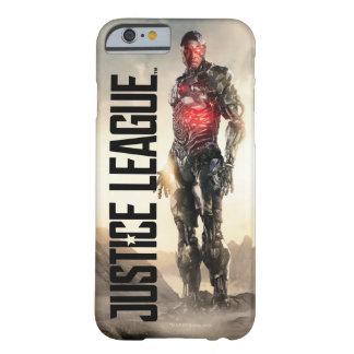 Capa Barely There Para iPhone 6 Cyborg da liga de justiça | no campo de batalha