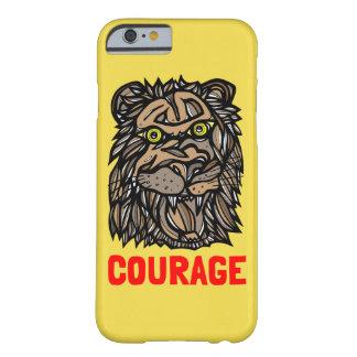 """Capa Barely There Para iPhone 6 Da """"capa de telefone do leão coragem"""""""