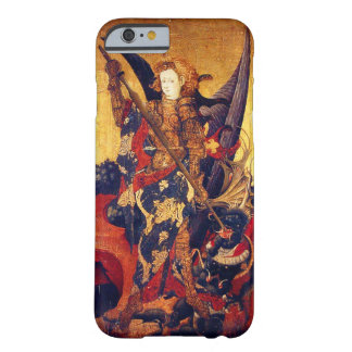 Capa Barely There Para iPhone 6 Diabo vencendo de St Michael como o cavaleiro