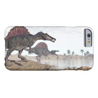 Capa Barely There Para iPhone 6 Dinossauros de Spinosaurus no deserto - 3D rendem
