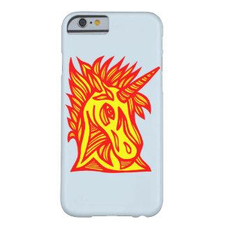 """Capa Barely There Para iPhone 6 Do """"capa de telefone vermelha amarela unicórnio"""""""