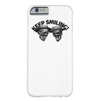 Capa Barely There Para iPhone 6 Dois crânios mantêm-se sorrir
