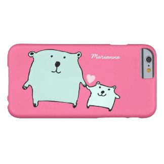 Capa Barely There Para iPhone 6 Dois pouco amor carregam o caso cor-de-rosa do