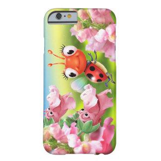 Capa Barely There Para iPhone 6 dragões instantâneos amigáveis do joaninha do caso