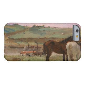 Capa Barely There Para iPhone 6 Edgar Degas - cavalos em um prado