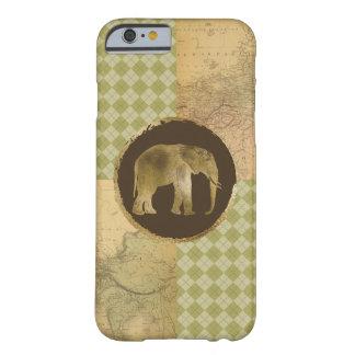 Capa Barely There Para iPhone 6 Elefante africano no mapa e no Argyle