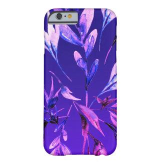 Capa Barely There Para iPhone 6 Elegante botânico da aguarela corajosa roxa