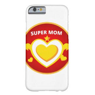 Capa Barely There Para iPhone 6 Emblema engraçado da mamã do flash do super-herói