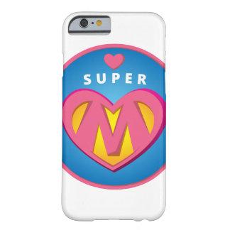Capa Barely There Para iPhone 6 Emblema engraçado da mamã do Superwoman do