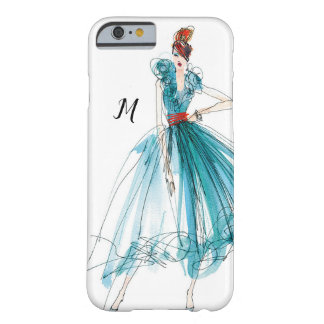Capa Barely There Para iPhone 6 Esboço da forma do Couture de Apple selvagem |