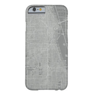 Capa Barely There Para iPhone 6 Esboço do mapa da cidade de Chicago