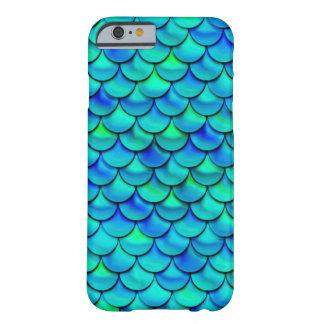 Capa Barely There Para iPhone 6 Escalas do azul do Aqua de Falln