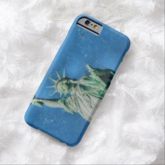 Capa Barely There Para iPhone 6 Estátua da liberdade, pintura das aguarelas de New