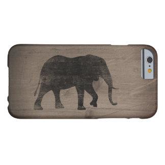 Capa Barely There Para iPhone 6 Estilo rústico da silhueta do elefante africano