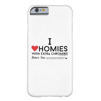 Capa Barely There Para iPhone 6 Eu amo homies com a caixa extra dos chromies