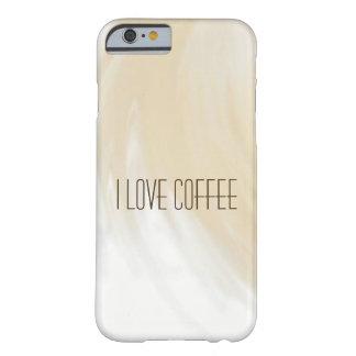 Capa Barely There Para iPhone 6 Eu amo o café