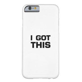 Capa Barely There Para iPhone 6 Eu obtive este para o cancer, consciência da