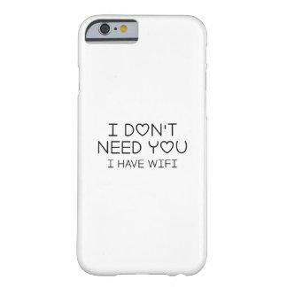 Capa Barely There Para iPhone 6 Eu tenho Wifi
