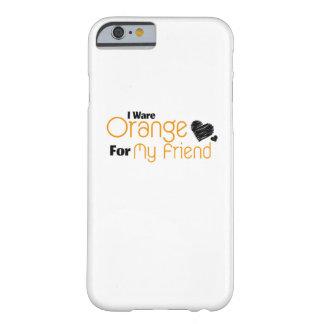 Capa Barely There Para iPhone 6 Eu visto a laranja para minha consciência da fita