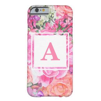 Capa Barely There Para iPhone 6 Exemplo floral da tecnologia do monograma da
