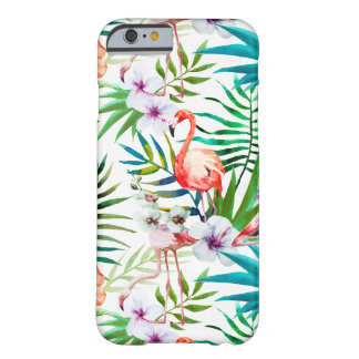 Capa Barely There Para iPhone 6 Exemplo tropical de Apple Iphone 6/6s do hibiscus