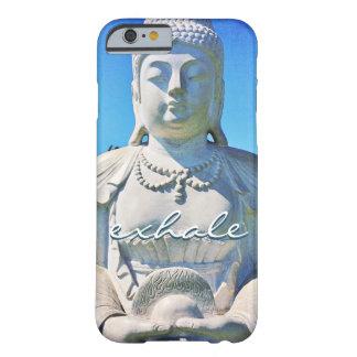 """Capa Barely There Para iPhone 6 """"Expire"""" a foto branca calma de Havaí Buddha das"""