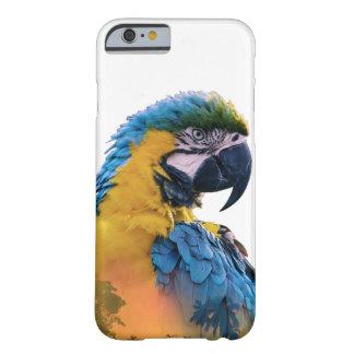 Capa Barely There Para iPhone 6 Exposição dobro do papagaio