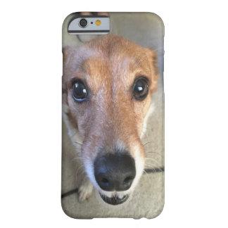 Capa Barely There Para iPhone 6 Feche acima de nosso gengibre do cão do salvamento