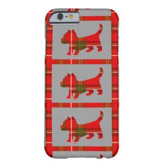 Capa Barely There Para iPhone 6 Filhote de cachorro do Tartan no caso do iPhone