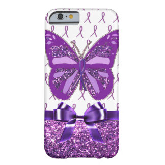 Capa Barely There Para iPhone 6 Fita roxa da borboleta da consciência da