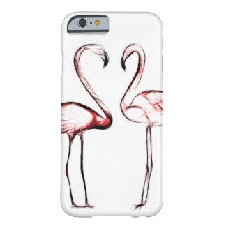 Capa Barely There Para iPhone 6 Flamingo cor-de-rosa dos flamingos do pêssego