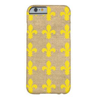 Capa Barely There Para iPhone 6 Flor de lis parisiense amarela dos humores