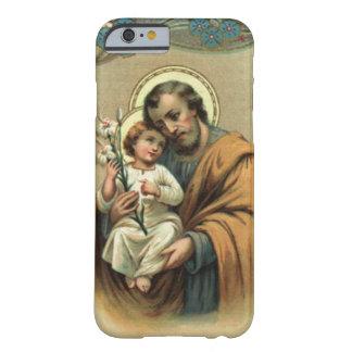 Capa Barely There Para iPhone 6 Flor do lírio de Jesus de St Joseph & de criança