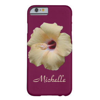 Capa Barely There Para iPhone 6 Flor elegante do hibiscus