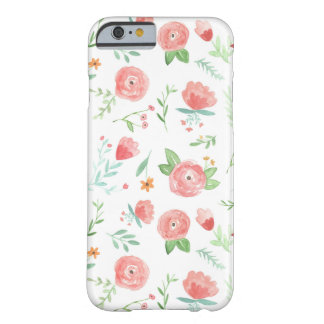Capa Barely There Para iPhone 6 Floral feliz do pêssego