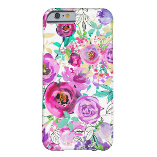 Capa Barely There Para iPhone 6 Floral moderno chique colorido brilhante