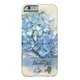 Capa Barely There Para iPhone 6 Flores azuis do Hydrangea
