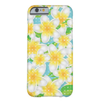 Capa Barely There Para iPhone 6 Flores da praia do Plumeria & céu azul